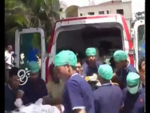 Injured students Moved to Yashoda Hospital for better Treatment