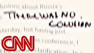 Trump's handwritten notes spotted on Russia statement - CNN