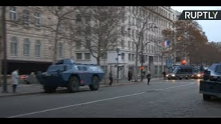 Armored vehicles in central Paris as France braces for another day of protests - RUSSIATODAY