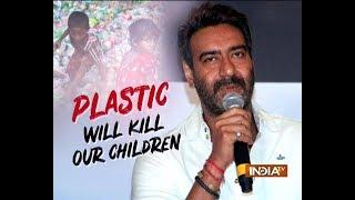 Ajay Devgn is happy with ban on plastic - INDIATV