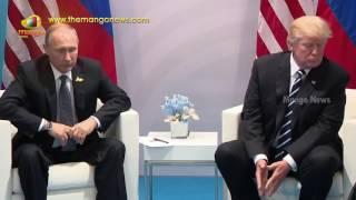 US President Donald Trump with President Vladimir Putin | Normal Bilateral Meeting | Mango News - MANGONEWS