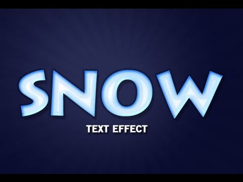 Photoshop - Snow Text Effect
