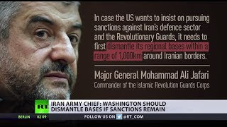 US should dismantle bases from Iran if it wants to pursue further sanctions – army chief - RUSSIATODAY