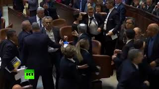 Brawl breaks out in Knesset as Mike Pence addresses Israeli Parliament - RUSSIATODAY