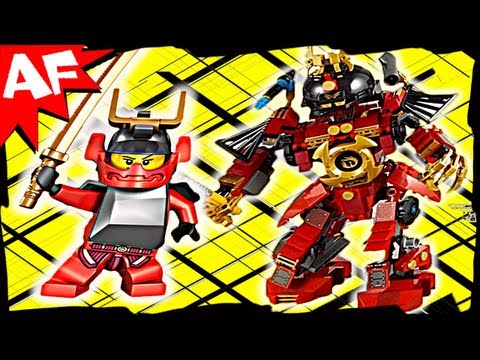 Lego Ninjago SAMURAI X MECH 9448 Animated Building Review