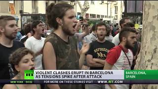 Terror & Tensions: Violent clashes spark in Barcelona as brawls spike after attack - RUSSIATODAY