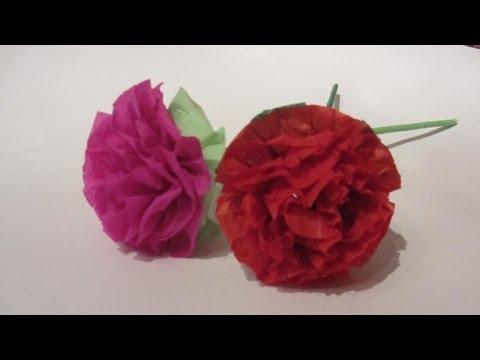 Tutorial: Flores de papel. Paper flowers.