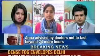 NewsX: Anna Hazare's fast enters ninth day - NEWSXLIVE