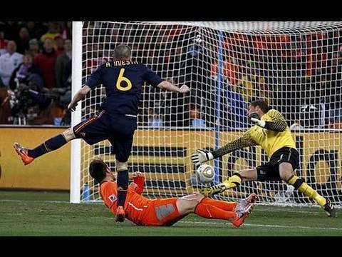 Spania 2010 World Cup vinnere nederlaget nederland 1 0 på Iniesta mål i