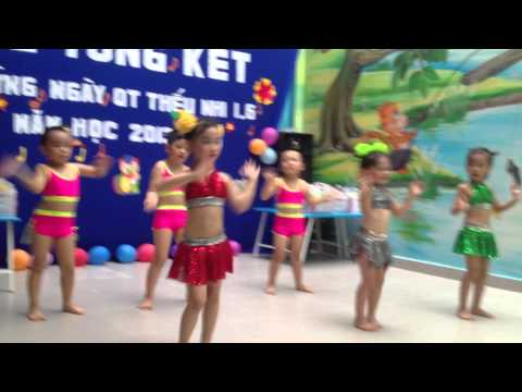Múa thiếu nhi sôi động( Bé Hồng Anh ) Trường Vàng Anh 2