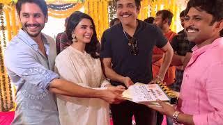 Actress Samantha Akkineni, Naga Chaitanya  New Movie Launch Photos - RAJSHRITELUGU