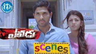 Yevadu Movie Scenes || Allu Arjun, Kajal Aggarwal Introduction Fight Scene - IDREAMMOVIES