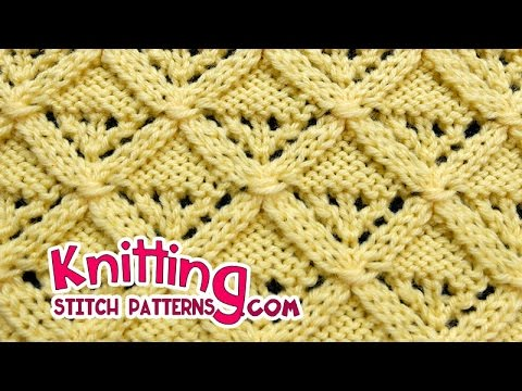 Diamond Lattice | Lace Knitting #25