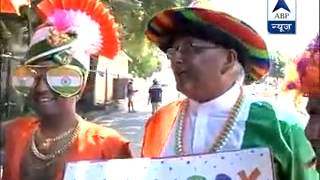 Indian fans celebrate Holi outside WACA stadium in Perth - ABPNEWSTV