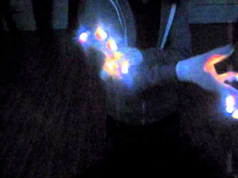 [Team Vision Shrimp] WhiteWw 2-Color Strobe Glove Light Show [OrbitLightShow.com]