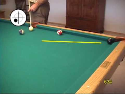 Masse shot ball curve technique and aiming system for pool and billiards, from VEPS V (NV B.88)
