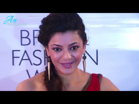 Sexy Kajal Agarwal in RED Gown at Indian Bridal Fashion Week