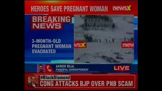 Siachen Pioneers evacuate 3 month-old pregnant woman from a remote village Kurgiak in Ladakh - NEWSXLIVE