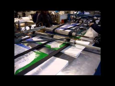 Maquina autotica, Corte Costura y Valvula para sacos de rafia tubular. BHCOMEX