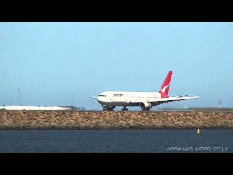 Qantas 767-336ER [VH-ZXG] - Landing at Sydney - 19 October 2011