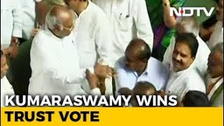 Kumaraswamy Wins Trust Vote After BJP Walks Out Of Karnataka Assembly - NDTV