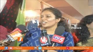 Tollywood Director Sanjana Reddy Inaugurates handloom Exhibition In Hyderabad   iNews - INEWS