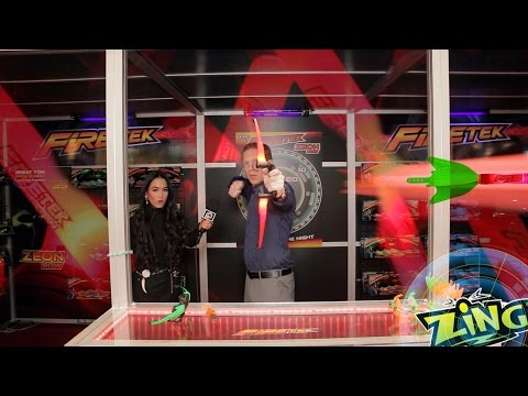Fire Away Day Or Night w/ The LED Firetek Bow & Rocket From Zing Toys - Toy Fair NY 15