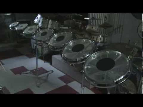 Test of full set of vintage Remo Roto Toms