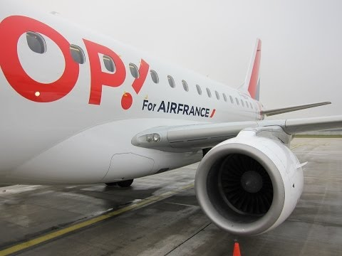 Air France HOP! Embraer 170 Taxi, Takeoff and Climb from Paris CDG!