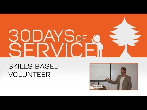 30 Days of Service by Brad Jamison: Day 16 - Skills Based Volunteer