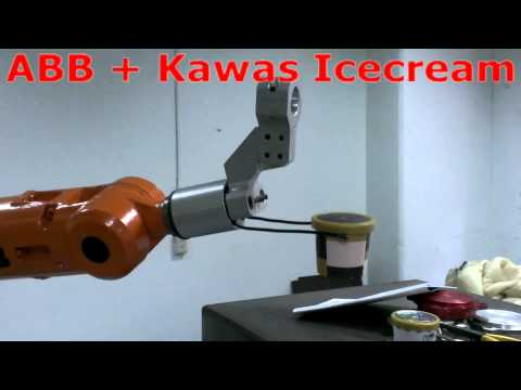 ABB Robot pick ice cream