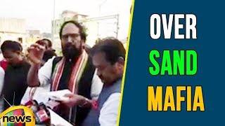 Uttam Kumar Reddy Talks To Media After Meeting Governor Over Sand Mafia | Mango News - MANGONEWS