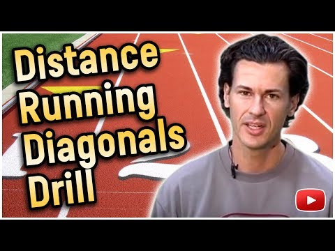 Track and Field Distance Running - Diagonals Drill - Coach Joe Walker