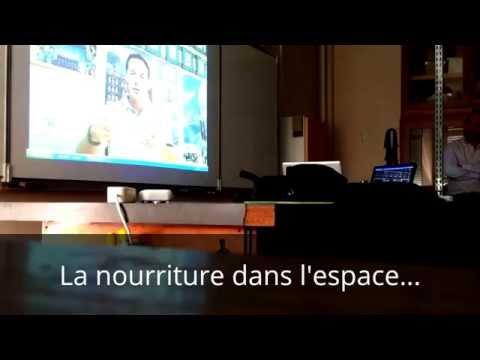 Visioconférence avec Thomas Pesquet