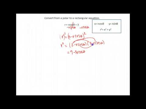 Trig U6A5 convert polar to rectangular equation