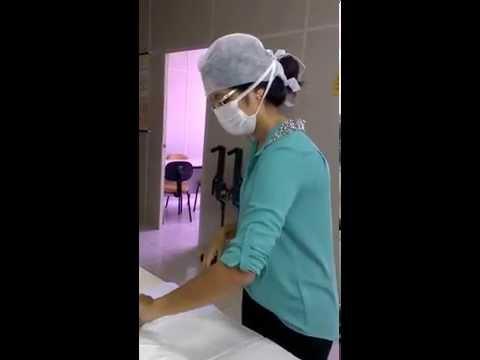 Técnica de paramentação cirúrgica