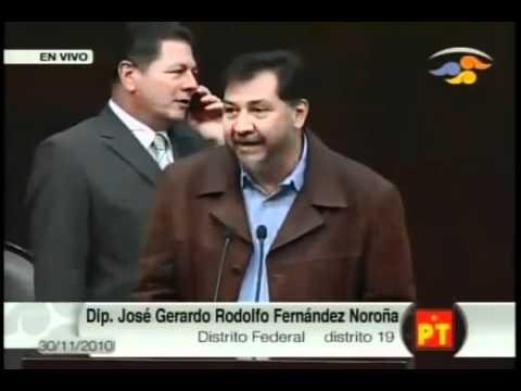Ventila Fernandez Noroña nexos de gobierno federal con el Narco