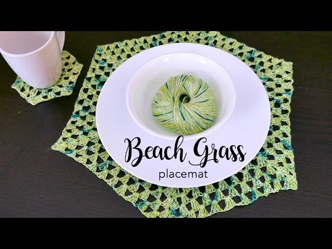 How To Crochet the Beach Grass Placemat, Episode 416