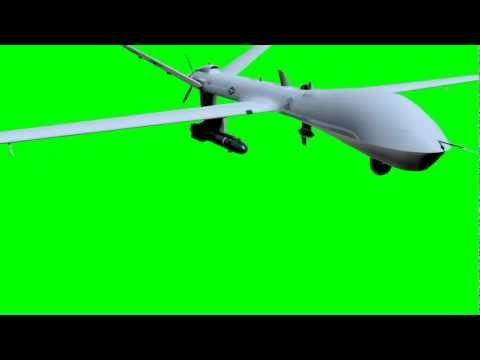 General Atomics MQ 9 Reaper   3d model green screen animation  s01r02