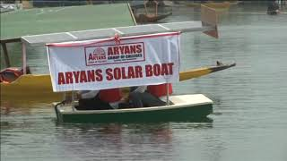 22 Jul, 2018 - Students launch solar powered boats in famed Dal Lake in Kashmir - ANIINDIAFILE