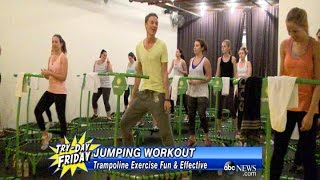 JUMPING WORKOUT: Trampoline Exercise - ABCNEWS
