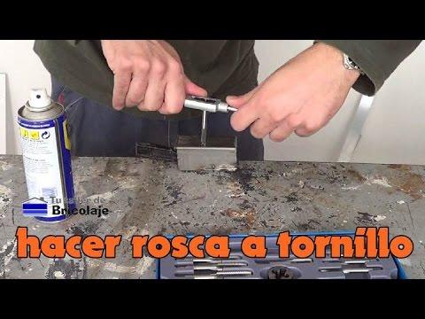Cómo hacer rosca para un tornillo