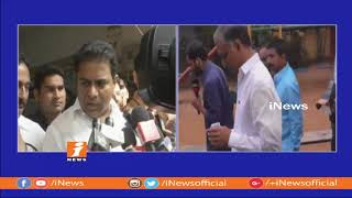 Telangana Assembly Polls | KTR, Hairsh Rao and KTR casts Their Votes | iNews - INEWS