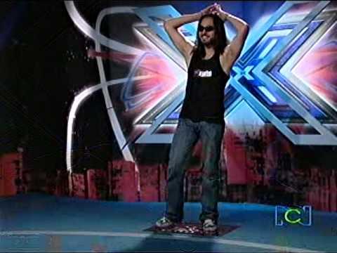 esteban loco, parce el reggae peludo en el factor x colombia 2009 (audiciones medellin)