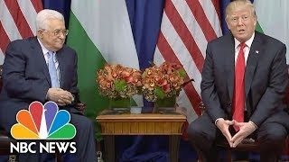 President Donald Trump Meets With Abbas, Says Decision Made On Iran Deal | NBC News - NBCNEWS