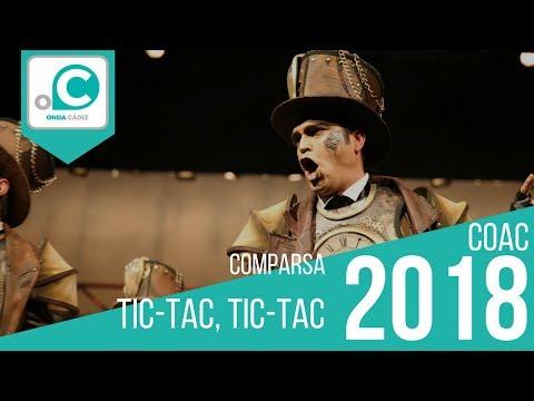 Sesión de Cuartos de final, la agrupación Tic-tac, tic-tac actúa hoy en la modalidad de Comparsas.