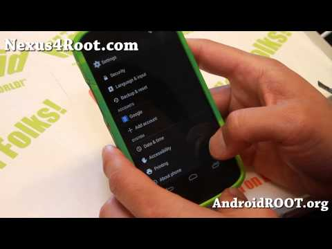 Android 4.4 KitKat Stock Firmware with Root for Nexus 4!