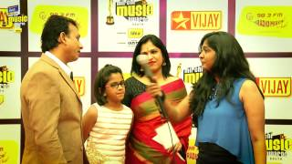 UTHARA UNNI KRISHNAN ON THE RED CARPET OF MIRCHI MUSIC AWARDS 2014
