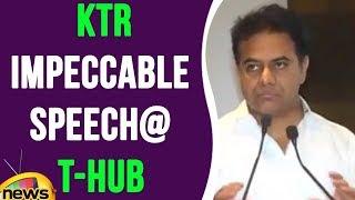 KTR Impeccable Speech At T-Hub Program | Mango News - MANGONEWS
