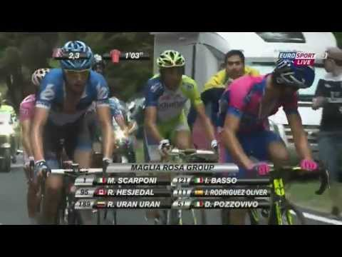 Giro d'Italia 2012, Roman Kreuziger, last 25km of stage 19